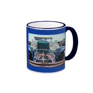 Flags and Chrome Classic Car Photograph Coffee Mugs