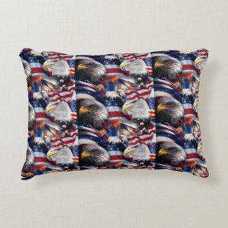 flags and Eagles Accent Pillow