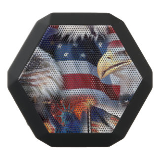 flags and Eagles Black Bluetooth Speaker