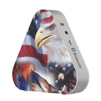 flags and Eagles Bluetooth Speaker