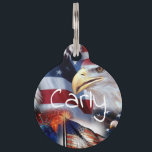 """flags and Eagles Pet ID Tag<br><div class=""""desc""""></div>"""