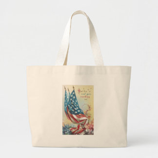 Flags and Flowers For the Fallen Large Tote Bag