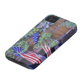Flags and Flowers in Philipsburg Montana iPhone 4 Cases