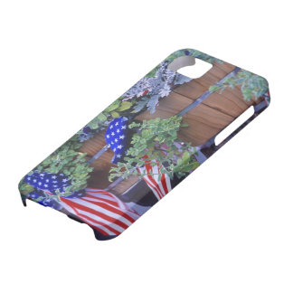 Flags and Flowers in Philipsburg Montana iPhone 5 Cases