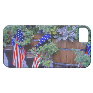 Flags and Flowers in Philipsburg Montana iPhone 5 Case