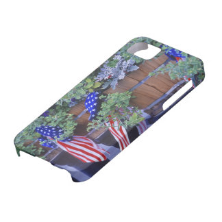 Flags and Flowers in Philipsburg Montana iPhone 5 Cover