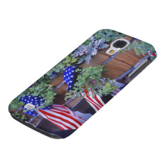 Flags and Flowers in Philipsburg Montana Samsung Galaxy S4 Cases