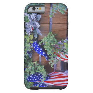 Flags and Flowers in Philipsburg Montana Tough iPhone 6 Case
