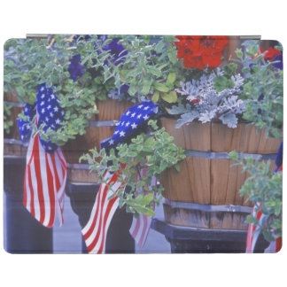 Flags and Flowers in Philipsburg Montana iPad Cover