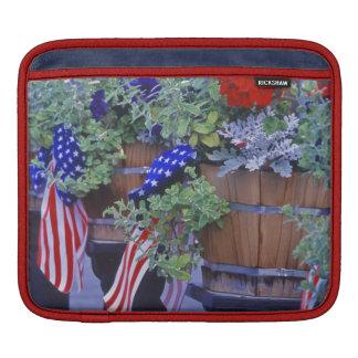 Flags and Flowers in Philipsburg Montana iPad Sleeve