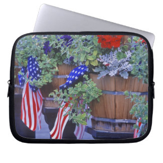 Flags and Flowers in Philipsburg Montana Laptop Sleeves