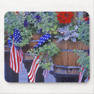 Flags and Flowers in Philipsburg Montana Mouse Pad