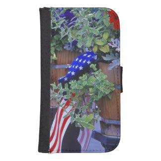 Flags and Flowers in Philipsburg Montana Galaxy S4 Wallets