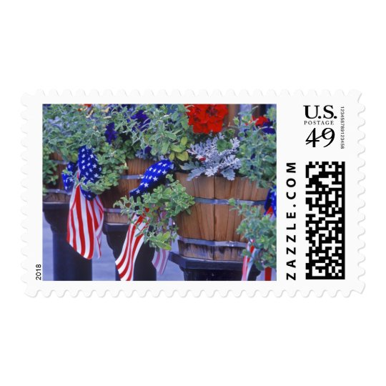 Flags and Flowers in Philipsburg Montana Postage