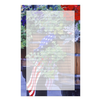 Flags and Flowers in Philipsburg Montana Stationery