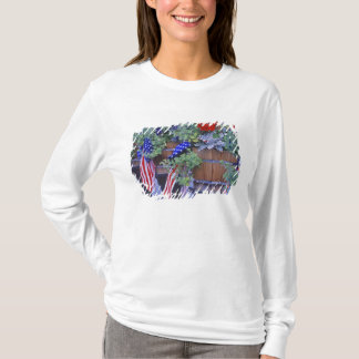 Flags and Flowers in Philipsburg Montana T-Shirt