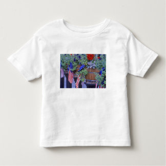 Flags and Flowers in Philipsburg Montana Toddler T-shirt
