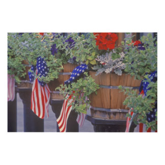 Flags and Flowers in Philipsburg Montana Wood Canvases