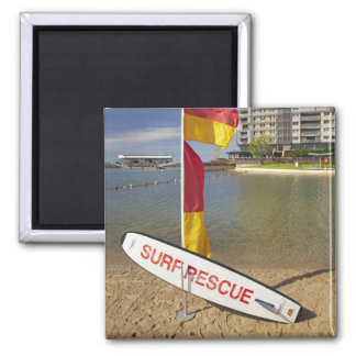 Flags and surf rescue board 2 inch square magnet