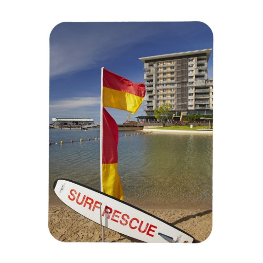 Flags and surf rescue board magnet