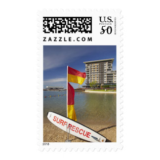Flags and surf rescue board postage