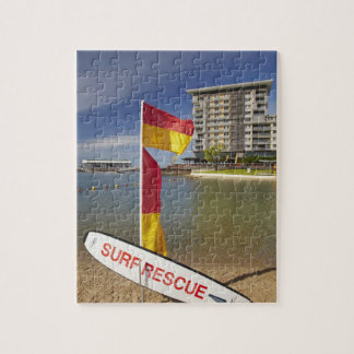 Flags and surf rescue board jigsaw puzzles