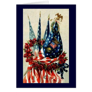 Flags and Wreath Greeting Card