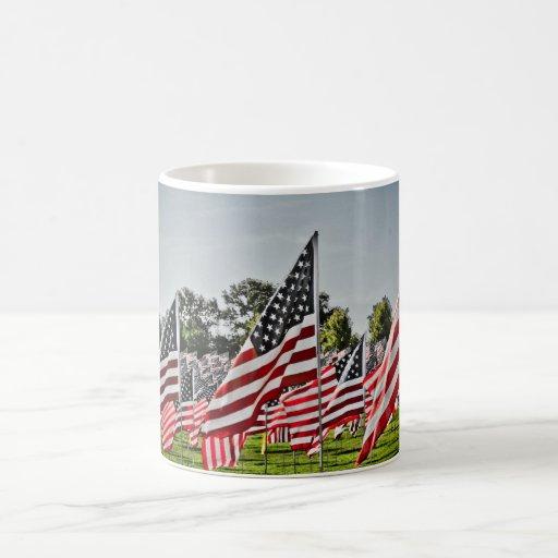 Flags at Art Hill-9-11 Classic White Coffee Mug