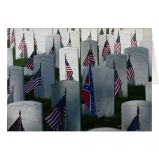 Flags at Cave Hill Cemetery Card