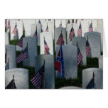 Flags at Cave Hill Cemetery Greeting Card