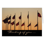 Flags at Sunset Card