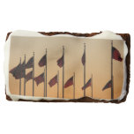 Flags at Sunset I American Patriotic USA Brownie