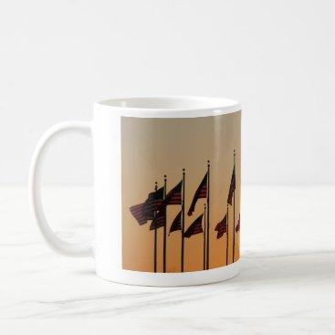 USA Themed Flags at Sunset I American Patriotic USA Coffee Mug