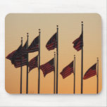 Flags at Sunset I American Patriotic USA Mouse Pad