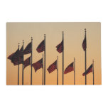 Flags at Sunset I American Patriotic USA Placemat