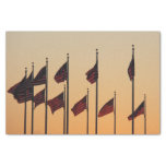 Flags at Sunset I American Patriotic USA Tissue Paper
