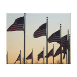 Flags at Sunset II Patriotic Photography Canvas Print