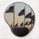 Flags at Sunset II Patriotic Photography Gel Mouse Pad