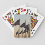 Flags at Sunset II Patriotic Photography Poker Deck