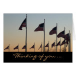 Flags at Sunset Photography Thinking of You Card