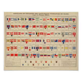 Flags, Badges Poster