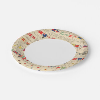 Flags, Badges 7 Inch Paper Plate