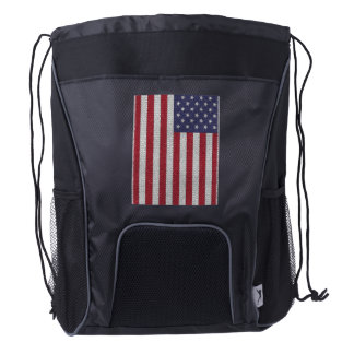 flags banner stars stripes honor freedom country drawstring backpack