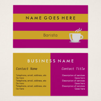 """Flags"" Barista Business Cards"