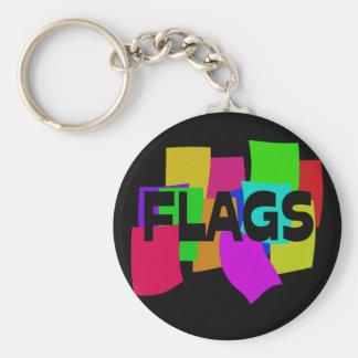 Flags Basic Round Button Keychain
