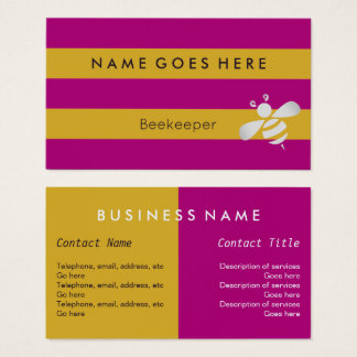 """""""Flags"""" Beekeeper Business Cards"""