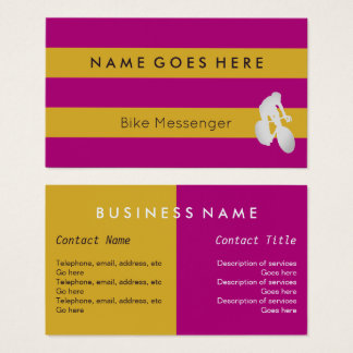 """Flags"" Bike Messenger Business Cards"