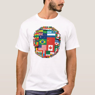 Flags by Land Area (Apparel) T-Shirt