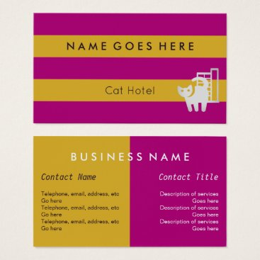 """Professional Business """"Flags"""" Cat Hotel Business Cards"""