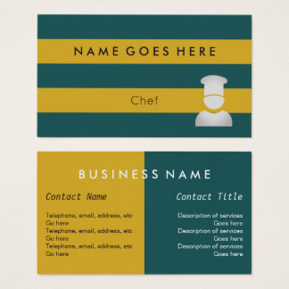 """""""Flags"""" Chef Business Cards"""